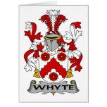 Escudo de la familia de Whyte Tarjeton
