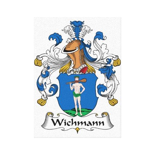 Escudo de la familia de Wichmann Lona Estirada Galerías