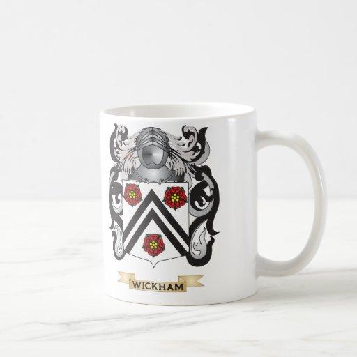 Escudo de la familia de Wickham (escudo de armas) Taza De Café