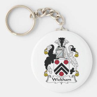 Escudo de la familia de Wickham Llavero Redondo Tipo Pin