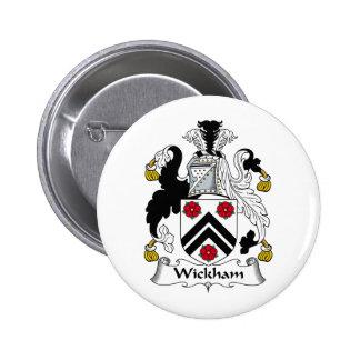 Escudo de la familia de Wickham Pin Redondo De 2 Pulgadas