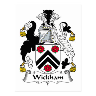 Escudo de la familia de Wickham Postales