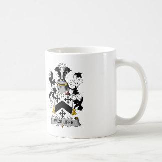 Escudo de la familia de Wickliffe Tazas De Café