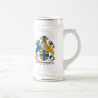 Escudo de la familia de Widderspoon Taza De Café