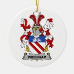 Escudo de la familia de Widenham Ornaments Para Arbol De Navidad