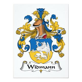 """Escudo de la familia de Widmann Invitación 6.5"""" X 8.75"""""""