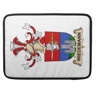 Escudo de la familia de Wiedemann Fundas Macbook Pro