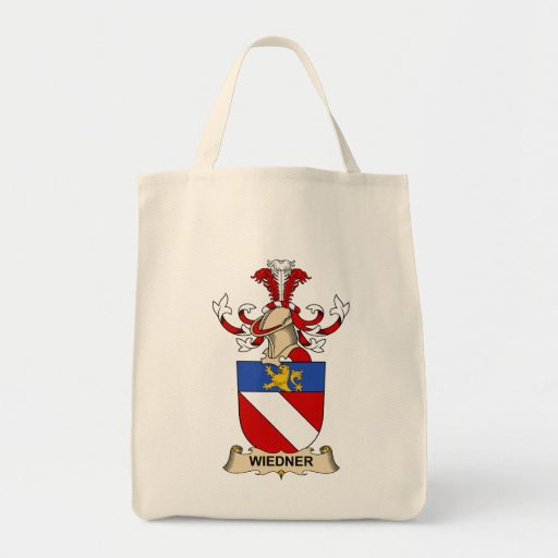 Escudo de la familia de Wiedner Bolsa De Mano