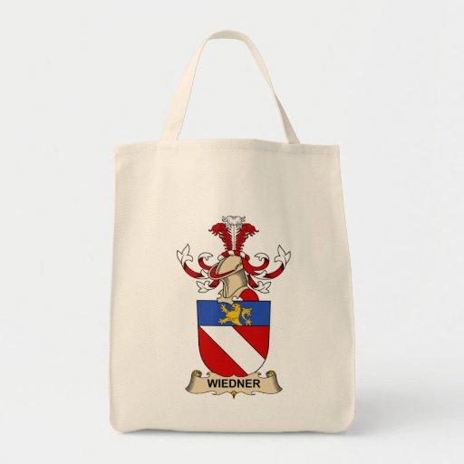 Escudo de la familia de Wiedner Bolsa Tela Para La Compra