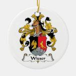 Escudo de la familia de Wieser Ornamentos De Navidad