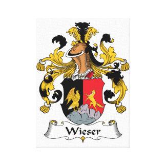 Escudo de la familia de Wieser Impresiones En Lona