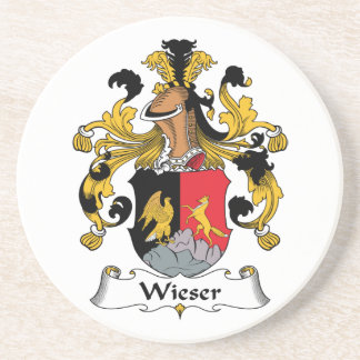 Escudo de la familia de Wieser Posavasos Para Bebidas