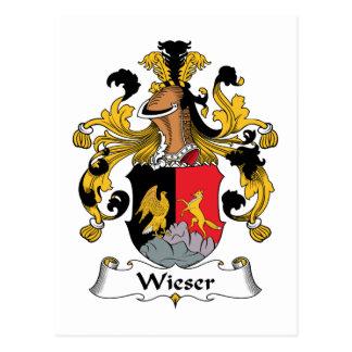 Escudo de la familia de Wieser Postales
