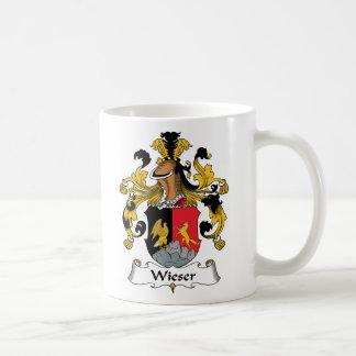 Escudo de la familia de Wieser Taza