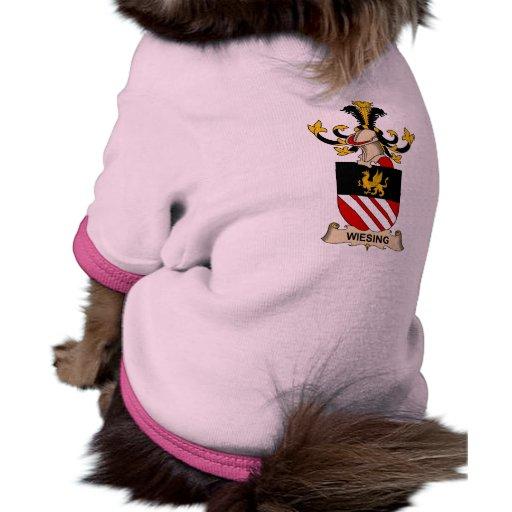 Escudo de la familia de Wiesing Camiseta De Perrito