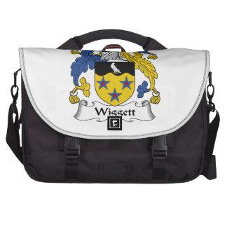 Escudo de la familia de Wiggett Bolsas De Portatil