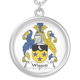 Escudo de la familia de Wiggett Colgante Redondo