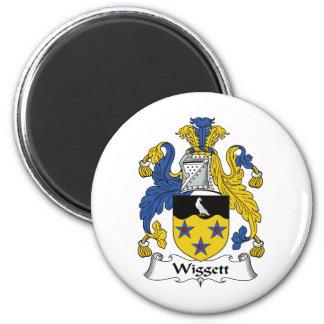 Escudo de la familia de Wiggett Imán Redondo 5 Cm