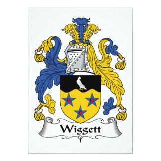 """Escudo de la familia de Wiggett Invitación 5"""" X 7"""""""