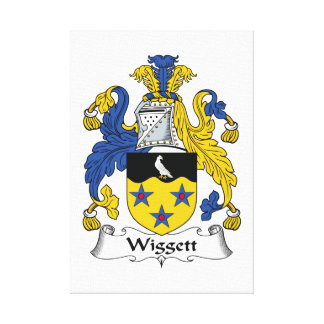 Escudo de la familia de Wiggett Impresiones En Lienzo Estiradas