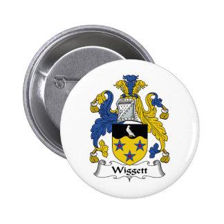 Escudo de la familia de Wiggett Pin Redondo 5 Cm