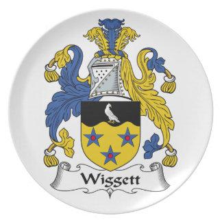 Escudo de la familia de Wiggett Plato De Cena