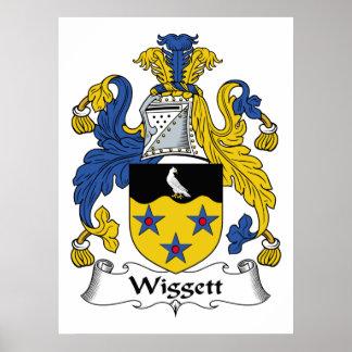 Escudo de la familia de Wiggett Póster