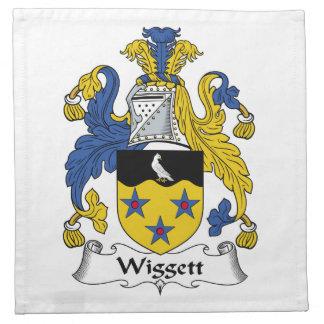 Escudo de la familia de Wiggett Servilletas Imprimidas