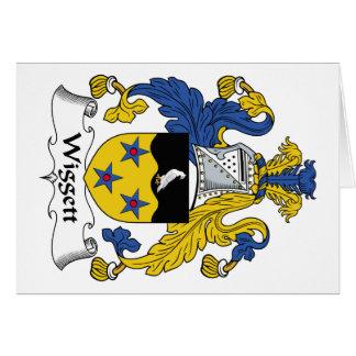 Escudo de la familia de Wiggett Tarjeta De Felicitación