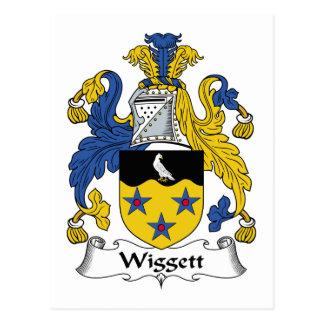 Escudo de la familia de Wiggett Tarjeta Postal