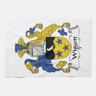Escudo de la familia de Wiggett Toallas De Mano
