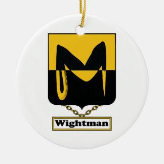 Escudo de la familia de Wightman Adornos