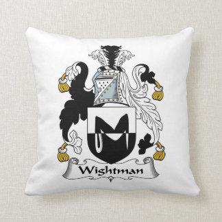 Escudo de la familia de Wightman Almohadas