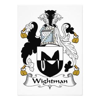 Escudo de la familia de Wightman Anuncio