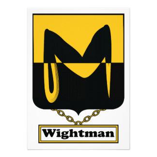 Escudo de la familia de Wightman Anuncios
