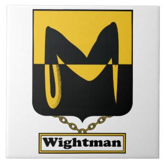 Escudo de la familia de Wightman Azulejos