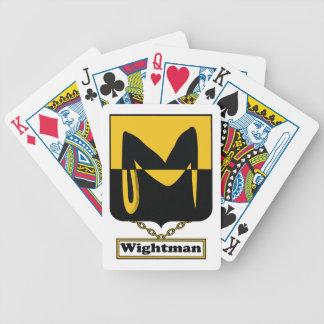 Escudo de la familia de Wightman Barajas De Cartas