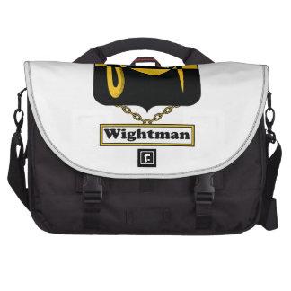 Escudo de la familia de Wightman Bolsas Para Ordenador