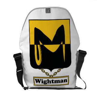 Escudo de la familia de Wightman Bolsa De Mensajeria