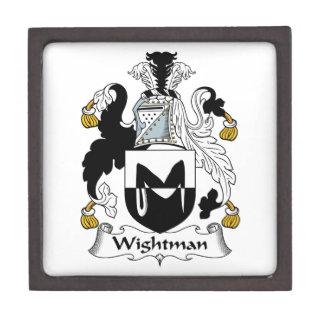 Escudo de la familia de Wightman Caja De Regalo De Calidad