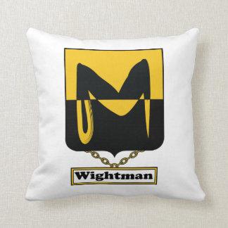 Escudo de la familia de Wightman Cojin