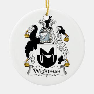 Escudo de la familia de Wightman Ornamento De Navidad