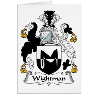 Escudo de la familia de Wightman Felicitacion