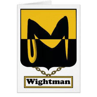 Escudo de la familia de Wightman Felicitaciones