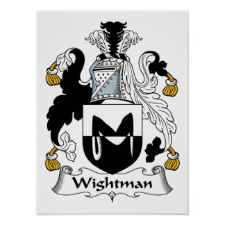 Escudo de la familia de Wightman Impresiones