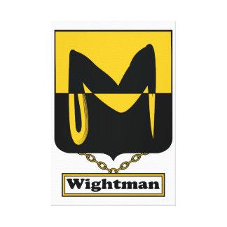 Escudo de la familia de Wightman Lona Estirada Galerías