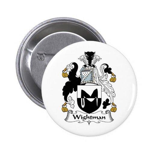 Escudo de la familia de Wightman Pin