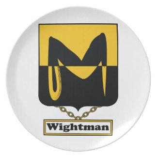 Escudo de la familia de Wightman Plato