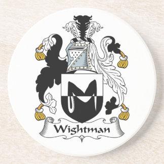 Escudo de la familia de Wightman Posavasos Manualidades