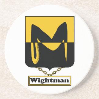 Escudo de la familia de Wightman Posavasos Cerveza